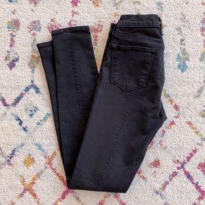 Never worn J Brand super skinny black jeans